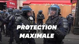 La Rotonde protégée par des CRS pendant les manifestations du 1er-Mai (VIDÉO)