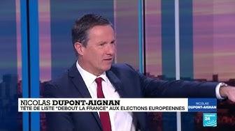"""Nicolas Dupont-Aignan : """"Il faut en finir avec l'Union européenne"""""""