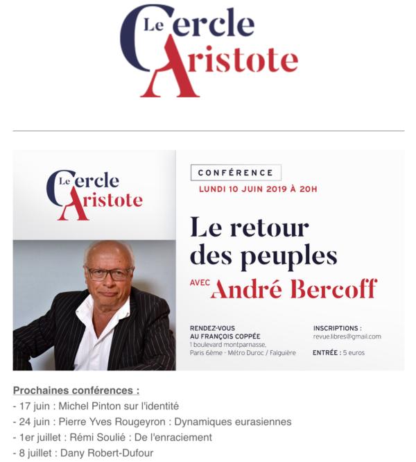 """""""Le retour des peuples"""" par André Bercoff (CONFÉRENCE)"""
