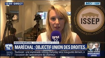 """Marion Maréchal : """"Je ne parle pas d'union, synonyme de fusion, mais d'alliance"""" des droites"""