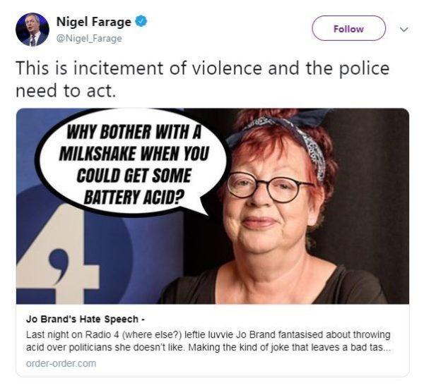 Quand les anti-Brexit appellent à la violence conre Nigel Farage