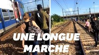 Sévice public : Quand les usagers du RER D terminent leur voyage à pied (VIDÉO)