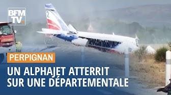 Cet Alphajet de la Patrouille de France a atterri sur une départementale (VIDÉO)