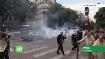 À Paris, les forces de l'ordre utilisent du gaz lacrymogène et procèdent à des arrestations (VIDÉO)