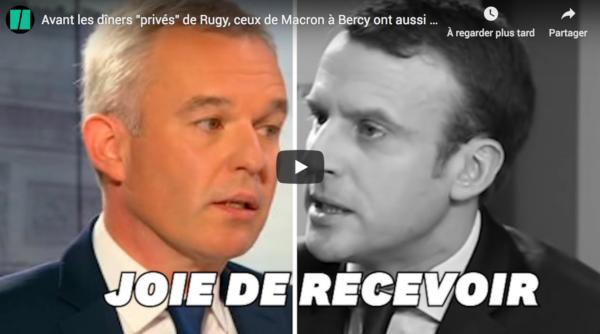 """Avant les dîners """"privés"""" de Rugy, ceux de Macron à Bercy ont aussi fait polémique"""