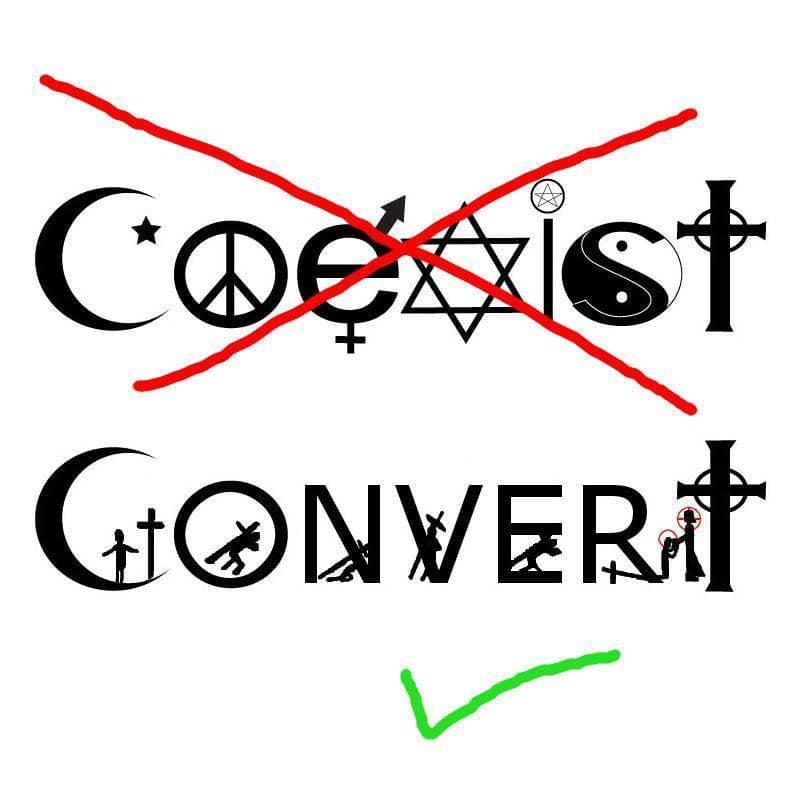 Évangélisons au lieu de coexister !