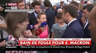 Emmanuel Macron recadre un passant qui fuit le débat après l'avoir lancé (VIDÉO)