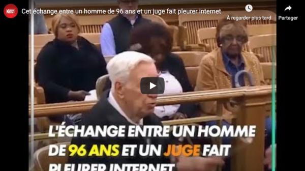États-Unis : Émouvant échange entre un homme de 96 ans et un juge (VIDÉO)