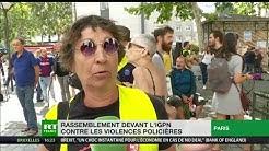 Rassemblement contre les violences policières devant le siège parisien de l'IGPN (VIDÉO)