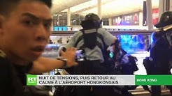 Hong Kong : nuit de tensions à l'aéroport après un second sit-in