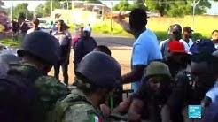 Affrontements entre clandestins africains et haïtiens et force de l'ordre à la frontière mexicaine (VIDÉO)