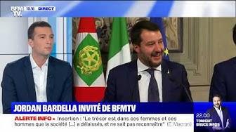 """Jordan Bardella : """"Matteo Salvini reviendra au pouvoir"""" (VIDÉO)"""