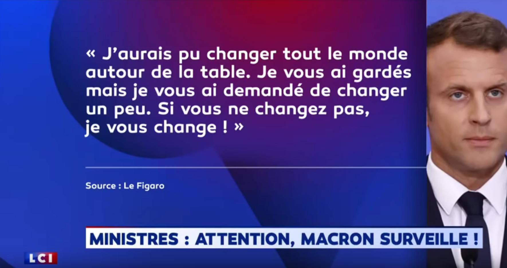 Quand Macron menace ses propres ministres (VIDÉO)