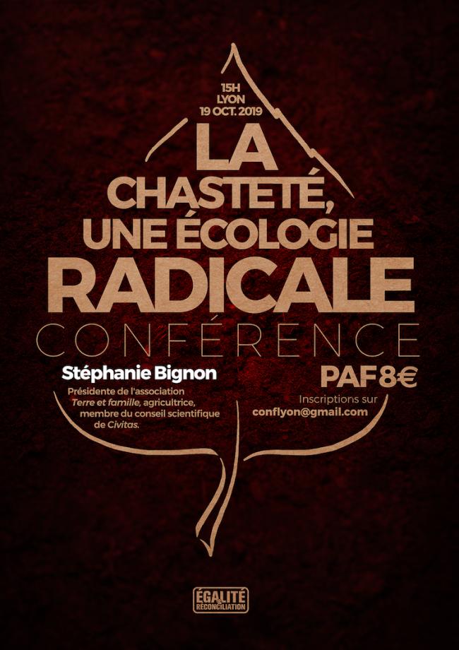 Stéphanie Bignon : La chasteté, une écologie radicale (CONFÉRENCE)