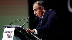Le discours complet d'Eric Zemmour à la Convention de la Droite (VIDÉO)