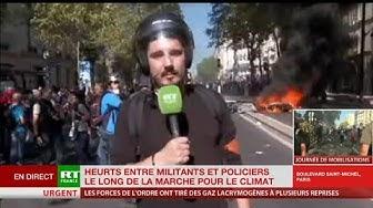 Marche pour le climat : foule très agressive envers les forces de l'ordre qui répliquent violemment (VIDÉO)