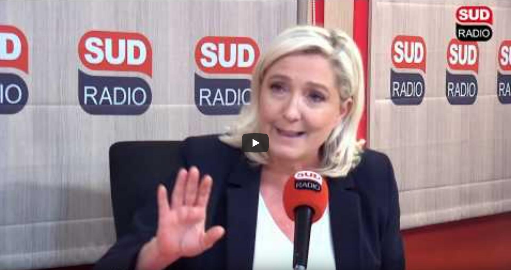 Grotesque : regardez comment Marine Le Pen n'assume plus d'avoir été trumpiste…