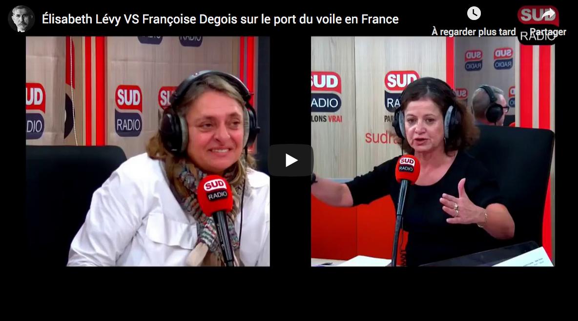 Élisabeth Lévy VS Françoise Degois sur le port du voile islamiste en France (VIDÉO)