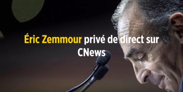 Défendons la liberté d'expression d'Éric Zemmour, tous devant CNEWS le 10 novembre !
