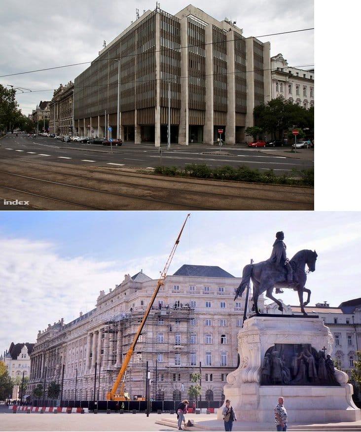 Budapest, en Hongrie : avant / après