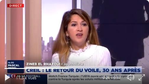 """Zineb El Rhazoui : """"Le voile est le cheval de Troie de l'idéologie islamiste !"""" (VIDÉO)"""