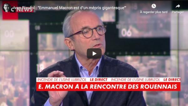"""Ivan Rioufol : """"Emmanuel Macron est d'un mépris gigantesque"""" (VIDÉO)"""
