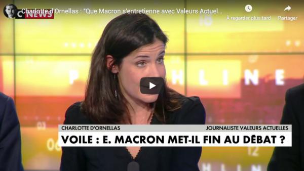 """Charlotte d'Ornellas : """"Que Macron s'entretienne avec Valeurs Actuelles, cela pose un problème ?"""" (VIDÉO)"""