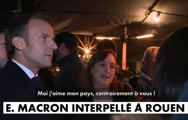 """Une Rouennaise s'insurge violemment contre Emmanuel Macron : """"Moi, j'aime mon pays, contrairement à vous"""" (VIDÉO)"""
