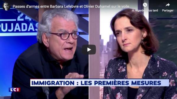 Passes d'armes entre Barbara Lefebvre et Olivier Duhamel sur le voile (VIDÉO)
