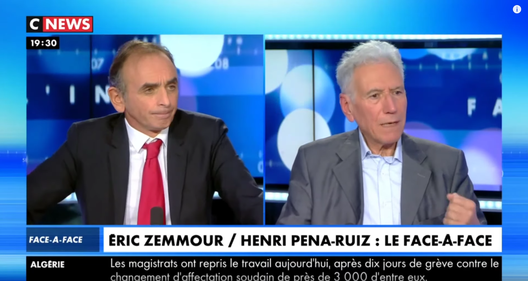 Laïcité, gauche, etc. : Éric Zemmour VS Henri Pena-Ruiz (DÉBAT)