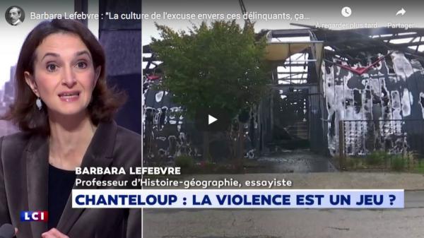 """Barbara Lefebvre : """"La culture de l'excuse envers ces délinquants, ça suffit !"""" (VIDÉO)"""