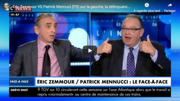Gauche, délinquance, etc. : Éric Zemmour VS Patrick Mennuci (PS) (DÉBAT)