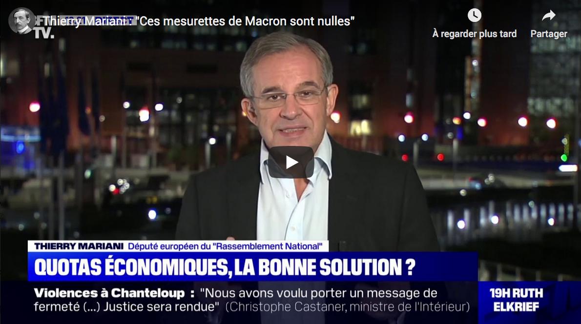 """Thierry Mariani : """"Ces mesurettes de Macron sont nulles"""" (VIDÉO)"""