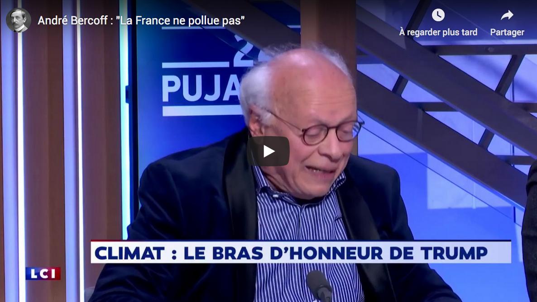 """André Bercoff : """"La France ne pollue pas"""" (VIDÉO)"""