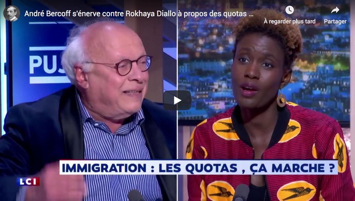 Quotas d'invasion immigrée : André Bercoff s'énerve contre Rokhaya Diallo (VIDÉO)
