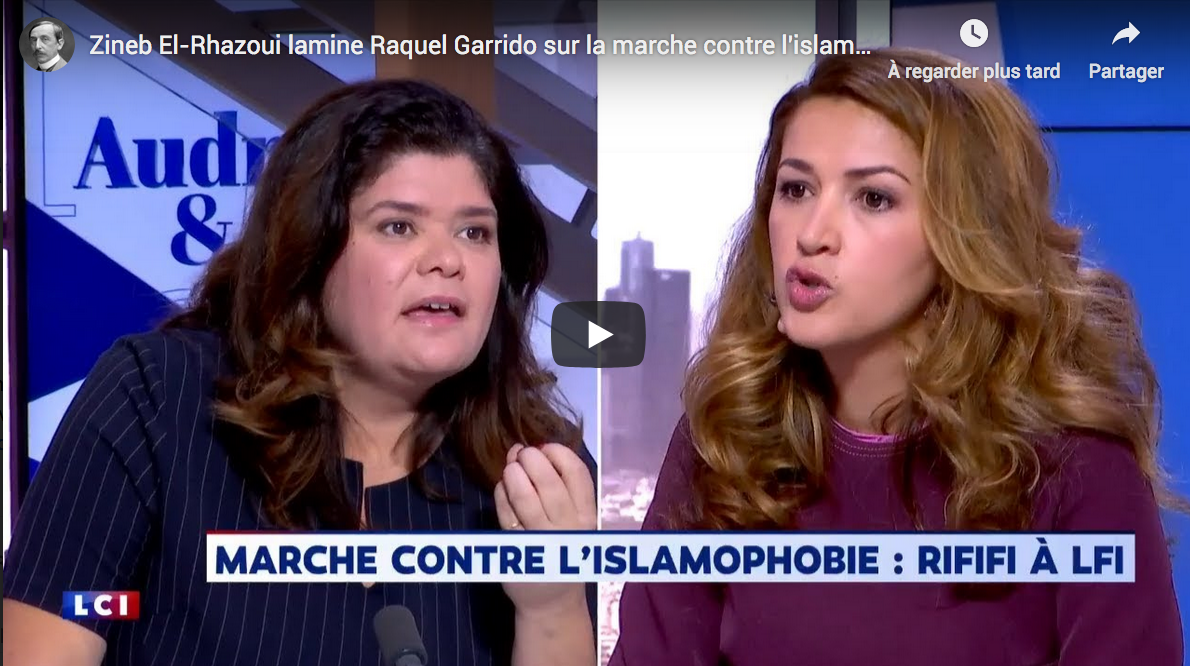 "Zineb El-Rhazoui lamine Raquel Garrido sur la marche contre ""l'islamophobie"" (VIDÉO)"