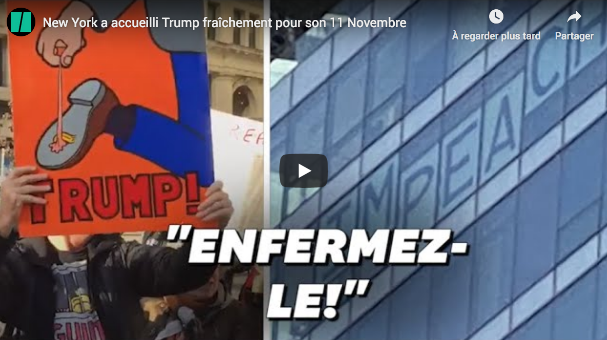 "New York City : les manifestants de gauche appellent à ""enfermer"" Donald Trump (VIDÉO)"