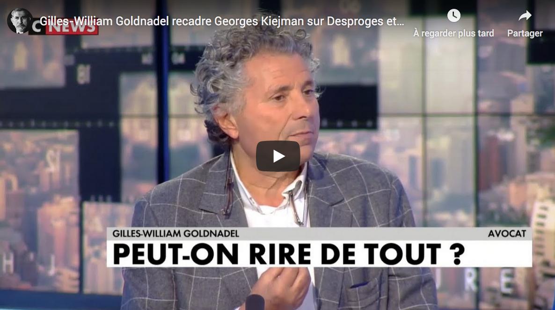 Gilles-William Goldnadel recadre Georges Kiejman sur Desproges et l'antisémitisme (VIDÉO)