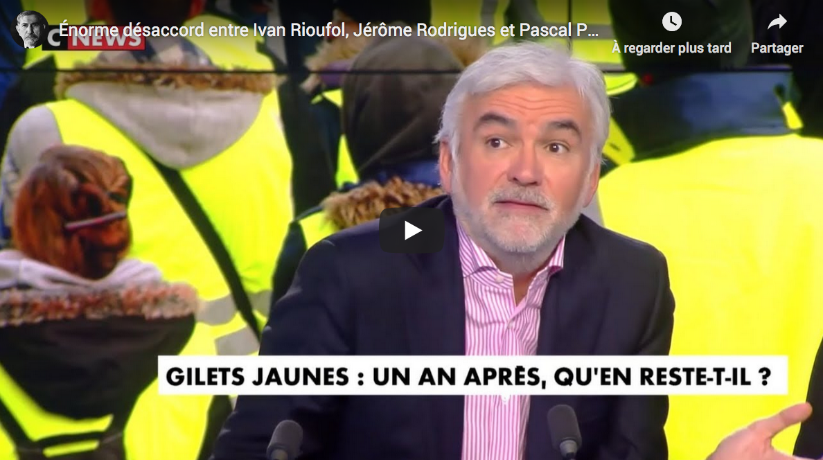 Énorme désaccord entre Ivan Rioufol, Jérôme Rodrigues et Pascal Praud sur les Gilets Jaunes (DÉBAT)
