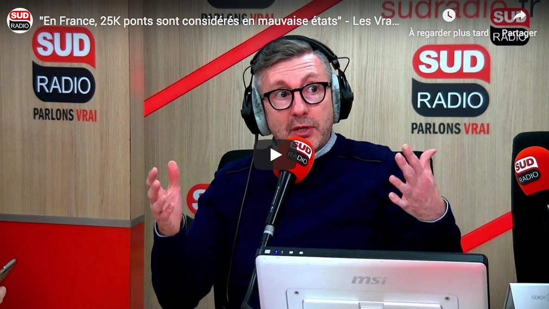 """En France, 25 000 ponts sont considérés en mauvaise états"" (VIDÉO)"