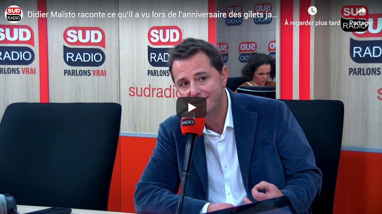 Didier Maïsto raconte ce qu'il a vu lors de l'anniversaire des Gilets Jaunes (VIDÉO)