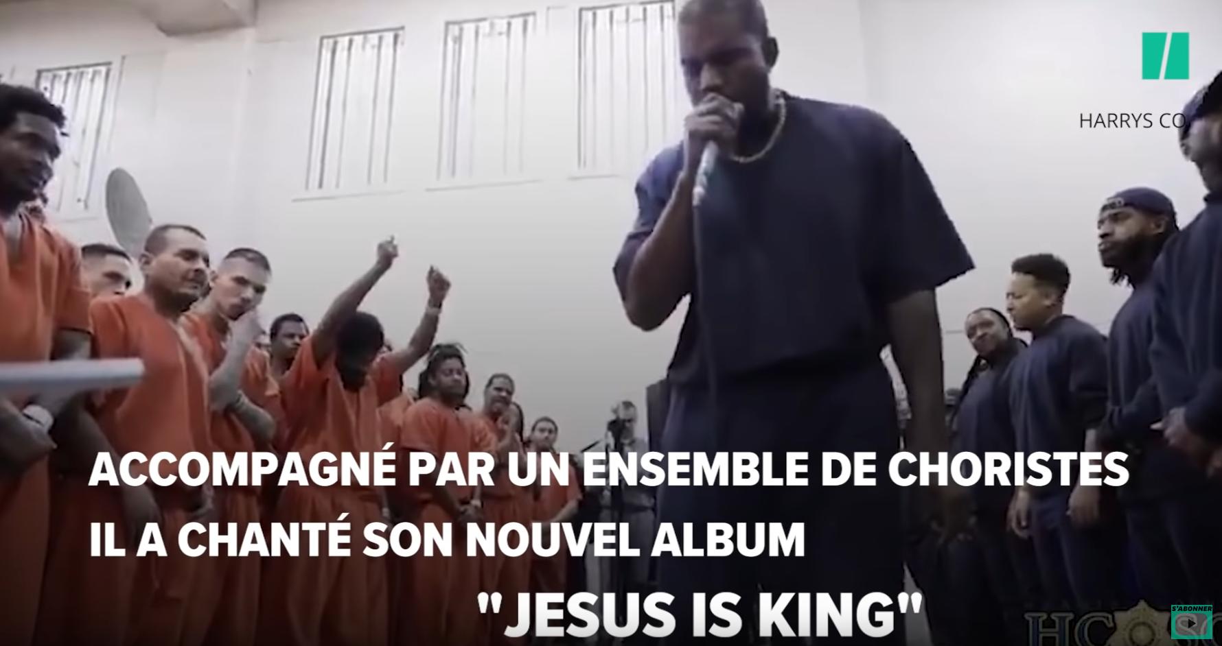 """Bible Belt : Kanye West chante """"Jésus est mon roi"""" avec des centaines de détenus chrétiens """"born again"""""""