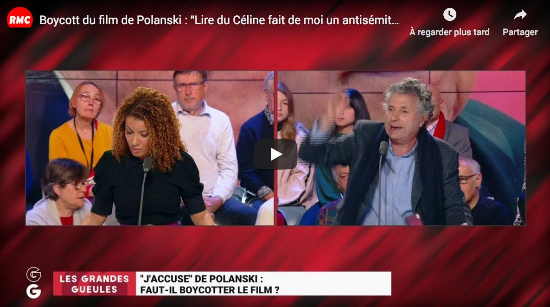 """Boycott du film de Polanski : """"Lire du Céline fait de moi un antisémite ?! Et puis quoi encore ?!"""" (Gilles-William Goldnadel)"""