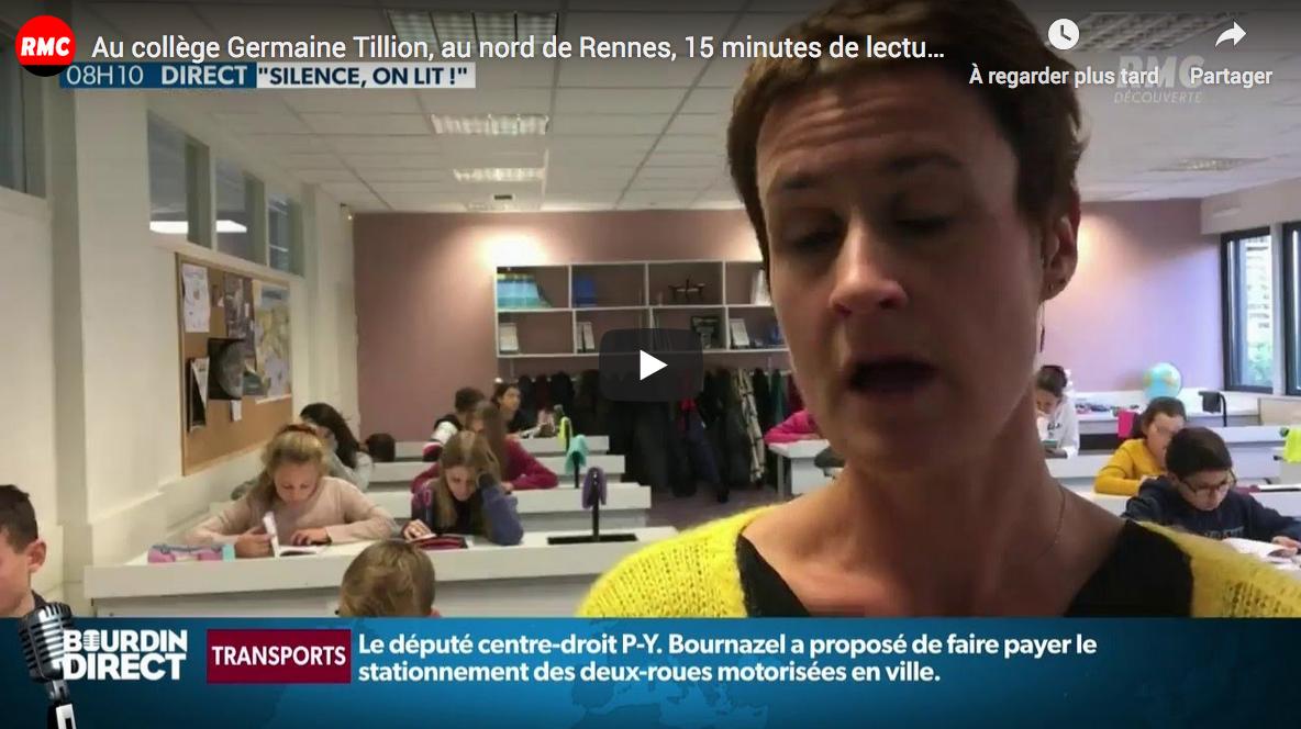 Au collège Germaine Tillion, au nord de Rennes, 15 minutes de lecture obligatoire chaque jour