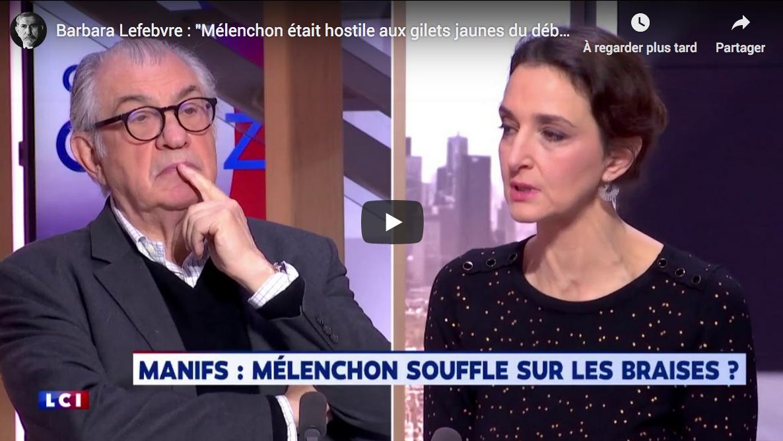 """Barbara Lefebvre : """"Mélenchon était hostile aux Gilets Jaunes du début, ne l'oublions pas"""" (VIDÉO)"""