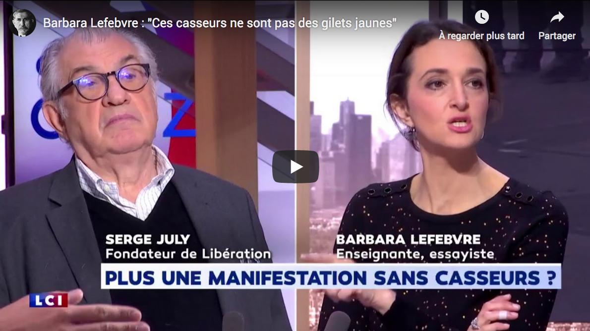 """Barbara Lefebvre : """"Ces casseurs ne sont pas des Gilets Jaunes"""" (VIDÉO)"""