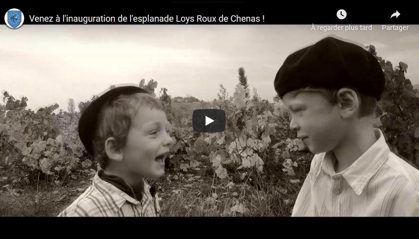 [AGENDA] Venez à l'inauguration de l'esplanade Loys Roux de Chenas !