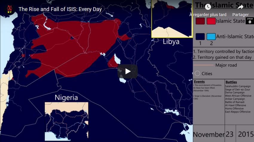 L'Etat islamique : essor et déclin, jour par jour (VIDEO)