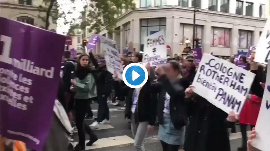 Regardez ces féministes de gauche soi-disant anti-violence (des hommes blancs) agresser d'autres féministes de droite anti-immigration (VIDÉO)