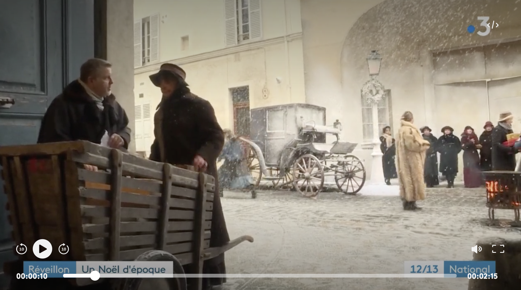 Réveillon : un Noël d'époque au château de Champs-sur-Marn (REPORTAGE)